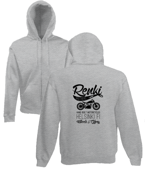 RENKI BROTHERS RIDE 2015. ZIP UP, BACK PRINT