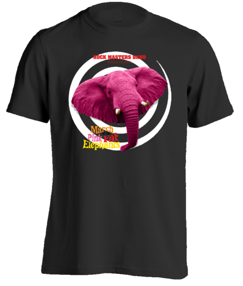 Mens The March of the Pink Fat Elephants T