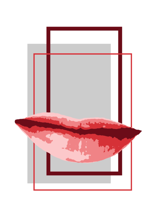 Lips, graphic art poster