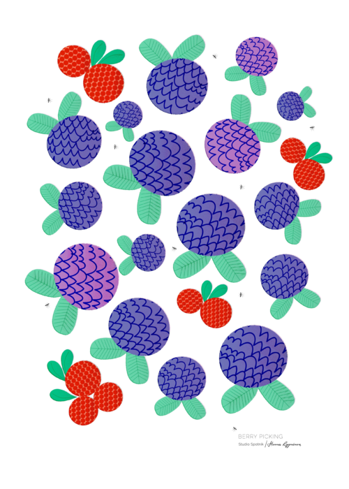 Berry Picking in Finland | 50x70 cm