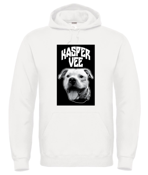 Kasper Vee Bad Dog Black Background Hoodie