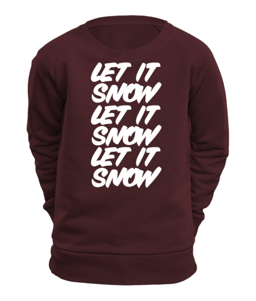 "SWEATSHIRT ""LET IT SNOW"", CHILDREN, SIZES 3–12 YEARS"