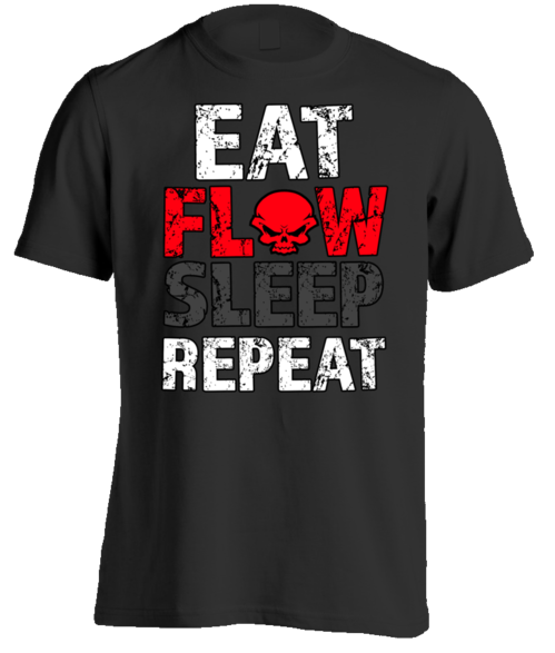 Eat, Flow, Sleep, Repeat design