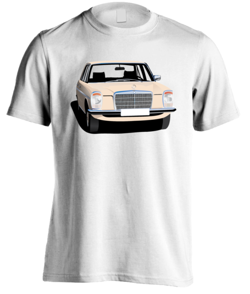 Mercedes-Benz W115, beige t-shirt