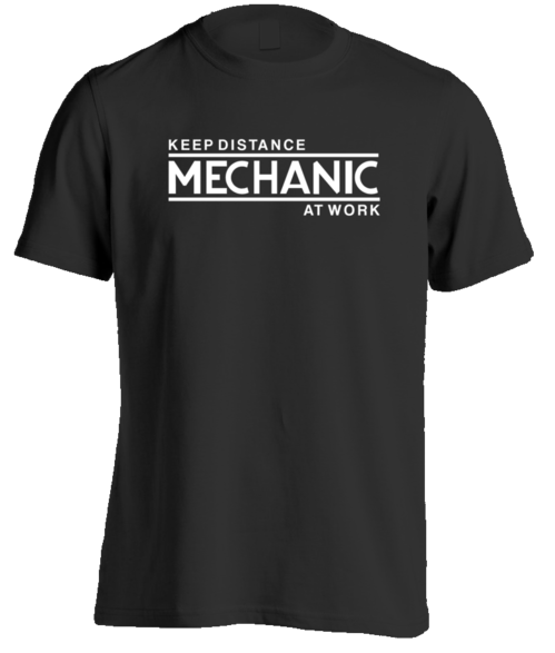 Mechanic At Work T-Shirt (Dark)