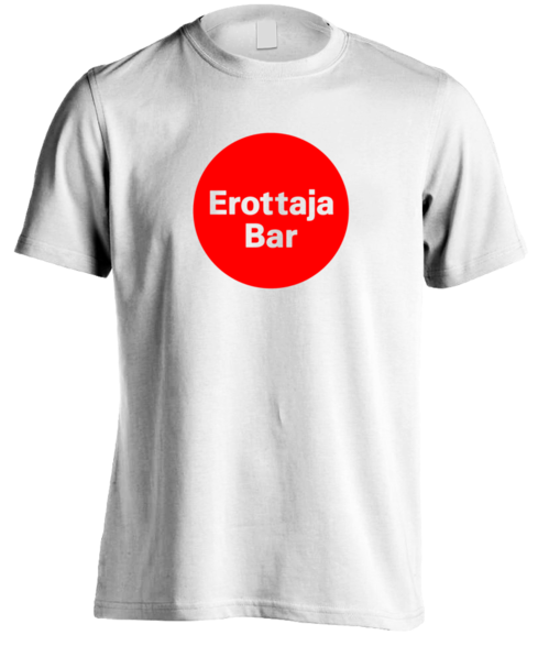 Erottaja Bar — Mens Red Circle logo Shirt