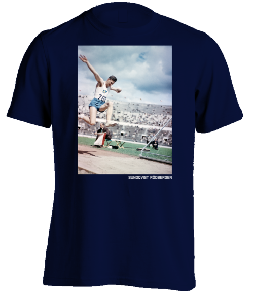OLYMPIC TRIPLE JUMPER, MEN'S Navy T-SHIRT
