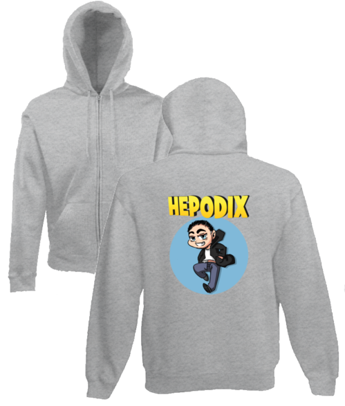 Hepodix 3 zipper hoodie for men