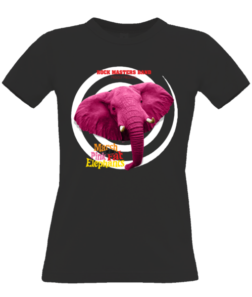 Womens The March of the Pink Fat Elephants T