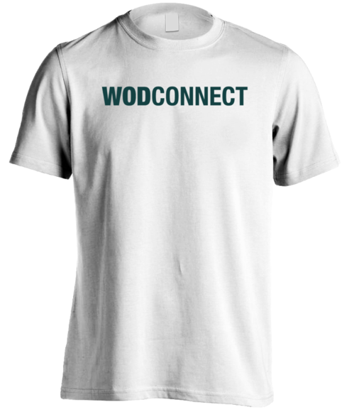 "WODconnect ""Green logo"" Basic Tee"