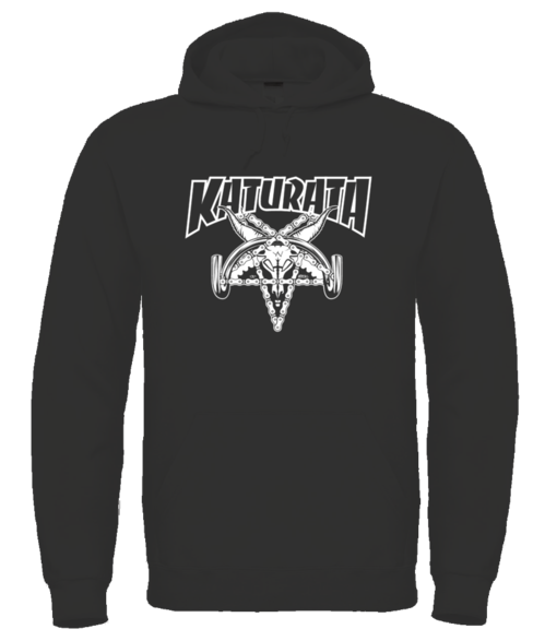 Katurata thrasher Hoodie black/grey/red