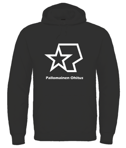 Pallomainen Ohitus Hoodie with text