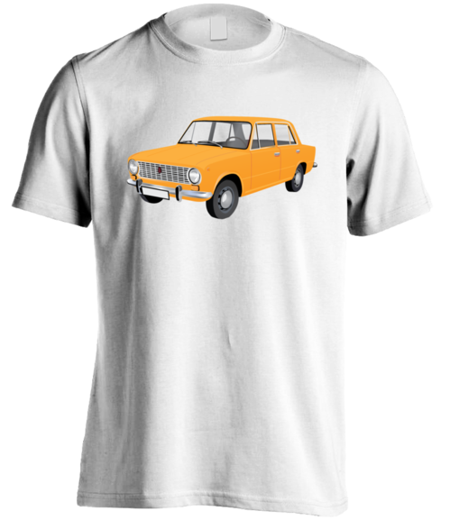 Lada 1200, orange, t-shirt