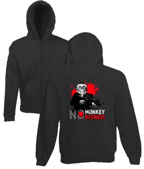 No monkey business hoodie design