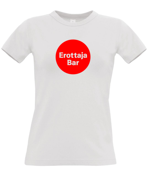 Erottaja Bar — Womens Red Circle Logo Shirt