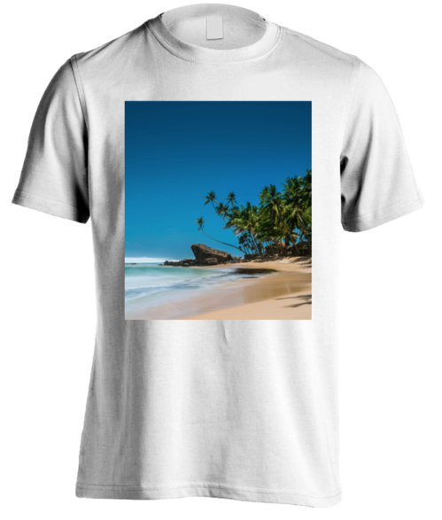 Beach side of life. T-Shirt men.