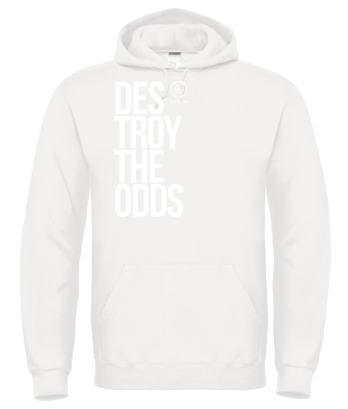Destroy The Odds - Exclusive White Print Hoodie