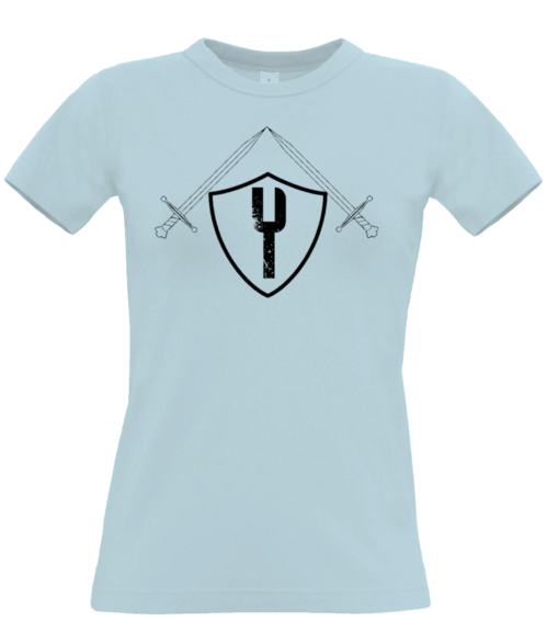 The Knight - Womens Tee - Sky Blue