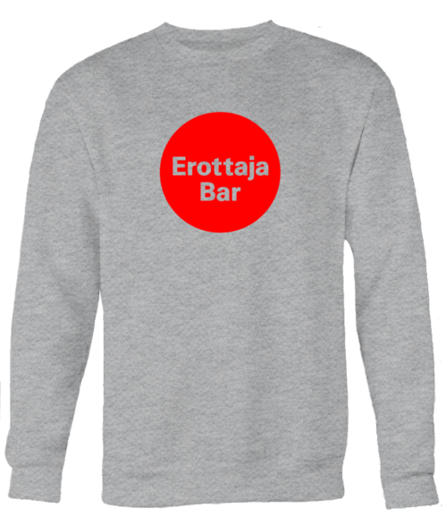 Erottaja Bar — Unisex Red Circle Logo Sweatshirt